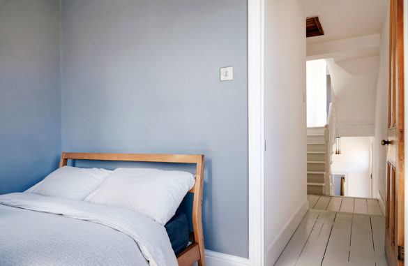 House of Sylphina interior design, Stoke Newington. Minimalist bedroom design