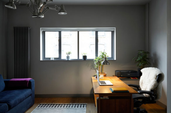 House of Sylphina interior design, Dalston. Modern home office