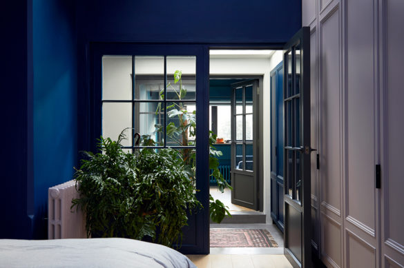 House of Sylphina. Interior designer, North London. Blue interior.